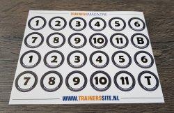 Stickervel met nummers - 25mm