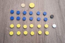 Set Magneten - Blauw/Geel - 20mm