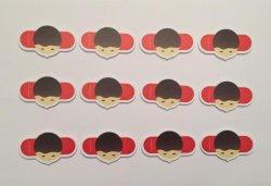 SpelersMagneten Rood - 12 stuks (Basisversie)