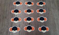 SpelersMagneten Oranje - 12 stuks (Basisversie)